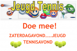 Zaterdag 16 februari, de 3e Jeugd tennisavond!