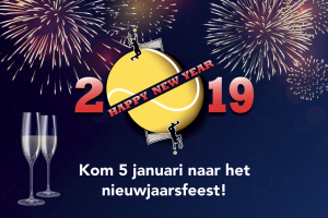 Kom ook naar de Nieuwjaarsborrel/Toss/tennisclinic