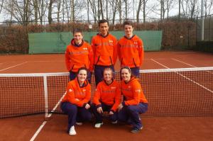 Zondag Gemengd Team 1 met: Rose-Marie Koopman, Teddy Gorter, Deborah van Beek, Robbert-Jan van Putten, Nick Nurmohamed, Bart Bremer
